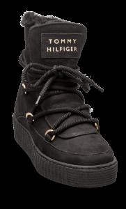 Tommy Hilfiger kort damestøvlett sort FW0FW04401