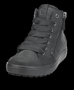 ECCO kort damestøvlett sort 450163 SOFT 7 LU