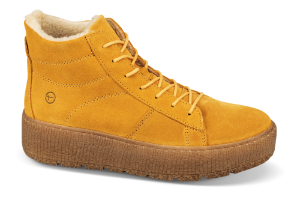 Tamaris kort damestøvlett gul 1-1-26096-23