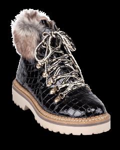 Tamaris kort damestøvlett sort 1-1-26245-23