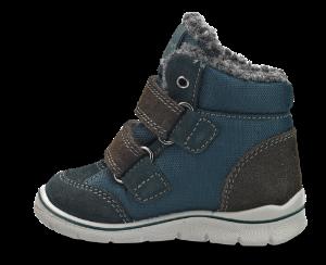 Skofus babystøvlett blå/brun