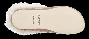 Zafary dametøffel beige