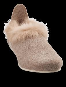 Zafary dame-tøffel beige