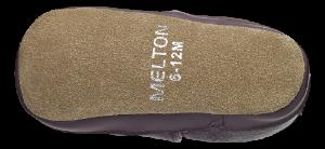 Melton barnetøffel burgunderrød 400132