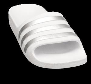 adidas badesandal hvid/sølv ADILETTE AQUA K