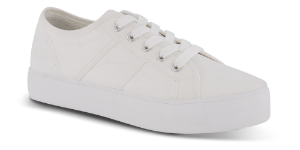 CULT lærredssneaker hvid