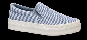 CULT dame-lerretssko blå strip