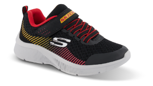 Skechers barnesneaker sort/rød 97535L