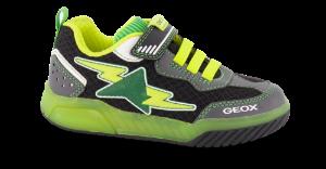 Geox barnesneaker sort/grønn/gul J029CB014BUC0802