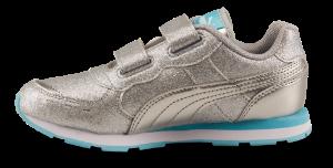Puma barnesneaker sølv 369720