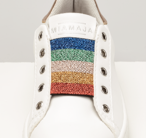 Mia Maja barnesneaker hvit 4020