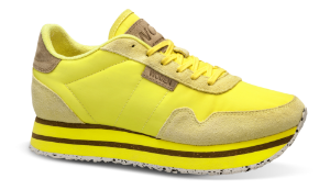 Woden dame-sneaker gul WL1750-570