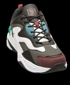 CULT sneaker hvit/sort/burgunder