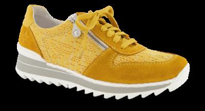 Rieker damesneaker gul M6929 68