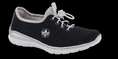 Navy blå Rieker sko med memory foam i sålen