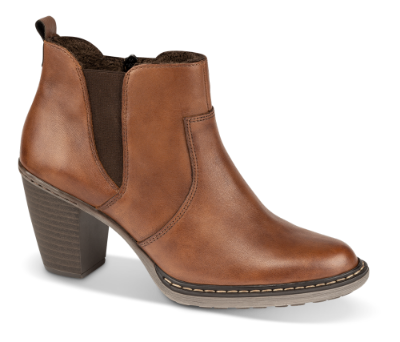 Rieker kort damestøvle brun 55284 24