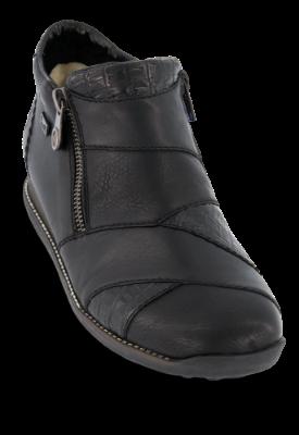 Rieker kort damestøvlett sort 44271 00 | Skoringen