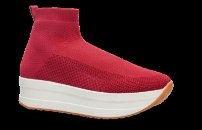 nyankomne ser godt ud til salg af sko New York Vagabond kort damestøvle rød 4722-080