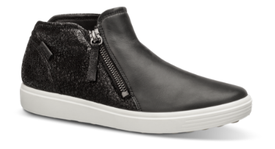 ECCO kort damestøvlett sort 430243 SOFT 7 W