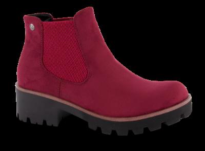 Rieker kort damestøvlett rød 99284 35