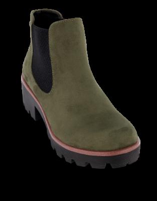 Rieker kort damestøvle grøn 79839 54