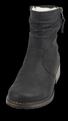 Rieker kort damestøvle sort Z6841 01